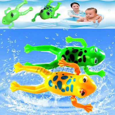 Wind-up Frog Swimming Pool Bath Time Animal Clockwork Floating Kid Baby Toy new.