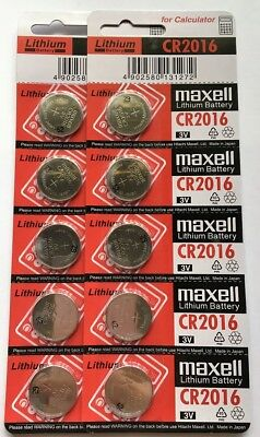 10 x CR2016 Button Coin Lithium Battery 3V Batteries Remote Watch made in Japan