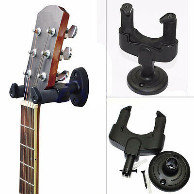 Guitar Bass Banjo Violin Mandolin Hanger Hook Holder Wall Mount Display 1 Set .
