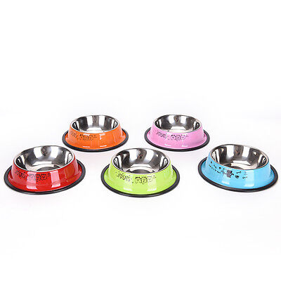 Pet Feeding Bowl Anti-skid Pet Dog Cat Food Water Bowl Feeding Drinking Bowl new