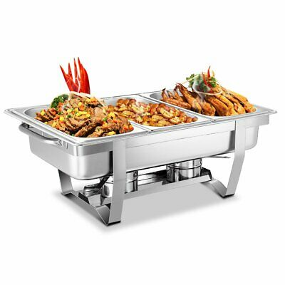 Bain Marie Bow Chafing Dishes Stainless Steel Buffet Warmer Stackable Set AU