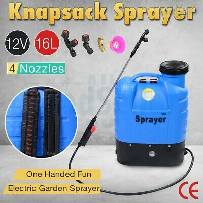 12V 16L Electric Weed Sprayer Rechargeable Backpack Farm Garden Pump Spray 2019