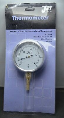 Jet Range N20700 100Mm Dial Bottom Entry Thermometer