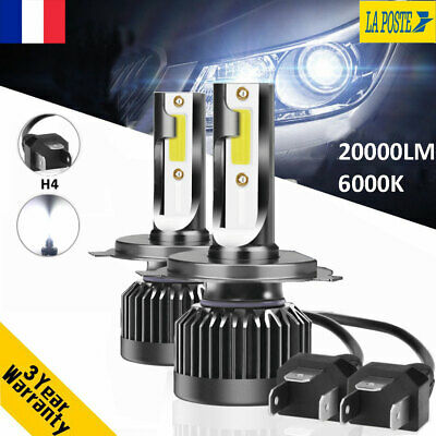 110W 20000LM H4 Hi/Lo CREE LED Ampoule Voiture Feux Lampe Kit Phare Blanc 6000K