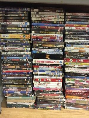 100 Mixed Dvd's  Joblot- Wholesale- Resale- Bootfair