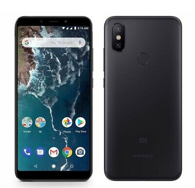 Xiaomi Mi A2 Black, Dual SIM, 64GB 4GB, 5,99'' FHD, Android One, Global Version