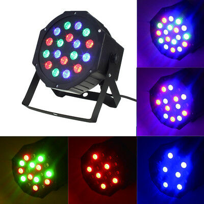 Led Stage Light 18Led 1W High Power RGB KTV DJ Wedding Party Lamp DMX512 Control