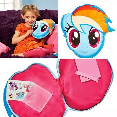 My Little Pony Secret Diary Plush Soft Toy Cushion Notepad & Stickers Gift Girls