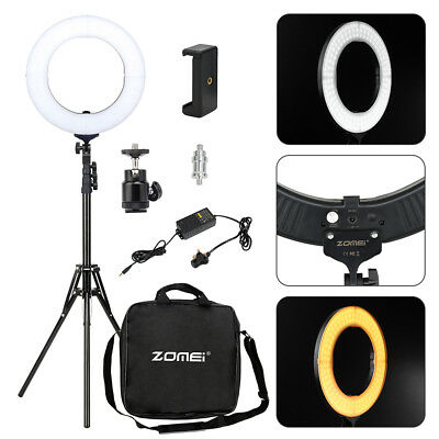 Studio LED 14'' Photo Video Ring Light Dimmable+ Camera iPhone Holder+2M Stand