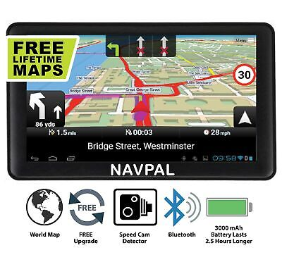 SLIMLINE SAT NAV, 7 Inch with Bluetooth + 2019 World Maps [Pre-Installed] + F...
