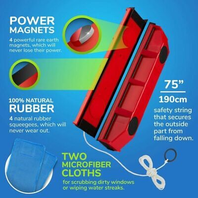 Magnetic Window Cleaner Tools Single / Double Glazing Windows Glass Cleaning UK