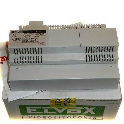 ELVOX 6583 / 240v Additional Power Supply for Long Sound System Video Door Entry
