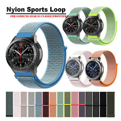 Woven Nylon Sport Loop Wrist Watch Band For Samsung Gear S3 Smart Watch Strap