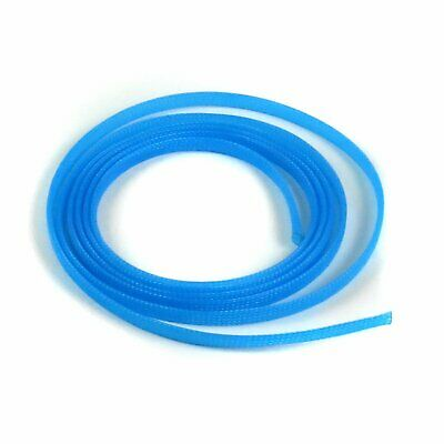 "1/8"" Neon Blue Braided Expandable Car Truck Flex Loom Wire Cable Insulator 10 Ft"