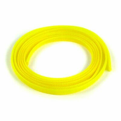 "5/8"" Neon Yellow Braided Expandable Car Flex Loom Wire Tubing Insulator 10 Feet"