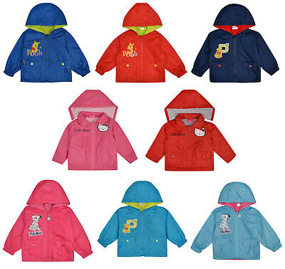 Baby Boys Girls Jackets Disney Baby Character Hood Fleece Lined Coats 0-18M New