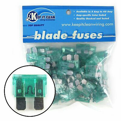 Bag of 100 30 Amp ATC Blade Fuses Full size modern fuse box harness painless OE