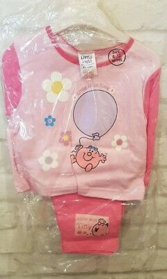 New with tags Girls little miss tiny Pink Pyjamas age 6 - 12 months