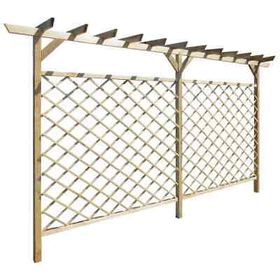 Garden Wooden Lattice Fence Panels with Pergola Top FSC Wood for Climbing Plants