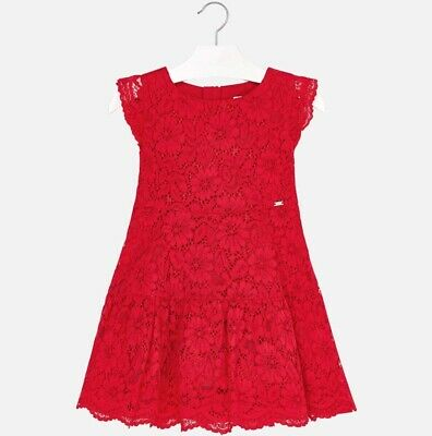 New Girls Mayoral Lace Dress , Age 2 Years , (3934)