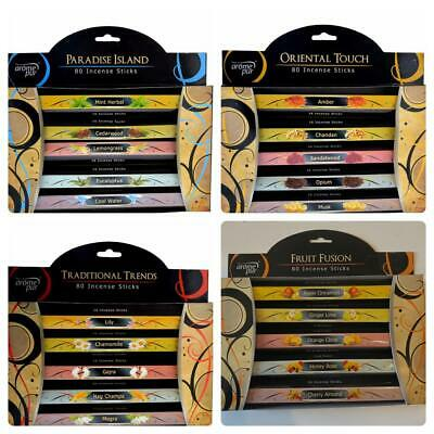 Arome Pur 5 Exotic Scents 80 Incense Joss Sticks Fragrance Aroma Pure Puja Mixed