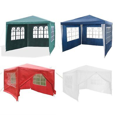 3x3m 3x4m 120g Waterproof Outdoor PE Garden Gazebo Marquee Canopy Party BBQ Tent