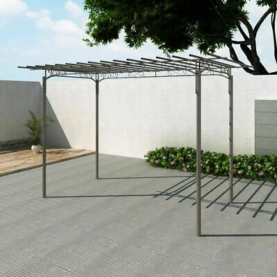 Rose Arch Garden Arbor Steel Brown Garden Decoration for Roses and Climbers New