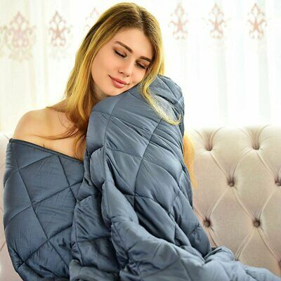 """Adult Weighted Blanket 48 x 72"""" / 60 x 80"""" Queen/Full Size Heavy Blanket"""