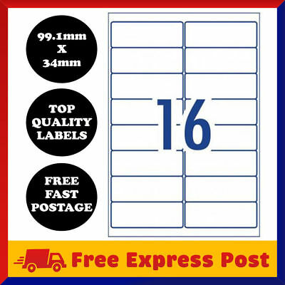 A4 Self Adhesive Address Labels Laser Inkjet Print Mailing Stickers 16 Per Sheet