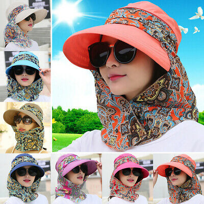 5b6b2969 Women Foldable Anti-UV Sun Hat Face Protection Hats Wide Big Brim Summer St