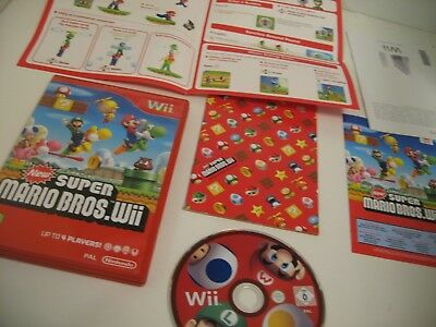 NEW SUPER MARIO BROS Wii  - NINTENDO Wii GAME - Free Post - Tested