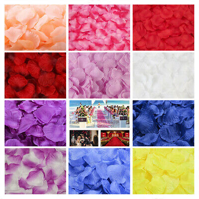 2000Pcs Mixed Silk Rose Petals Flower Confetti Engagement Wedding Party Decor