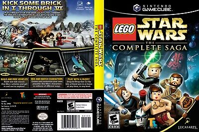 Nintendo GameCube replacement game case ,Cover Lego Star Wars -The Complete Saga