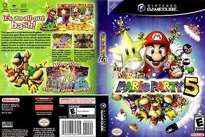 Nintendo GameCube replacement game case and Cover Mario Party 5