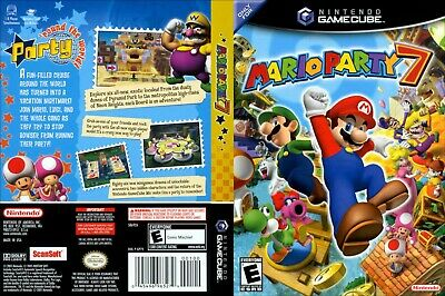 Nintendo GameCube replacement game case and Cover Mario Party 7
