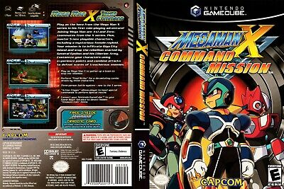 Nintendo GameCube replacement game case and Cover Mega Man X: Command Mission