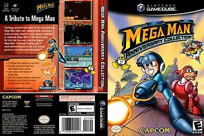 Nintendo GameCube replacement game case and Cover Megaman Anniversary Collection
