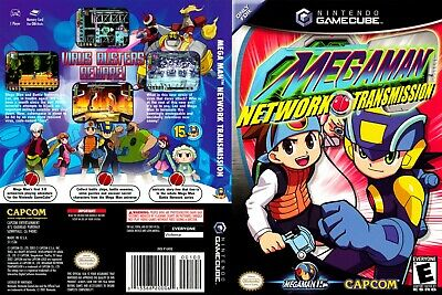 Nintendo GameCube replacement game case and Cover Megaman Network Transmission