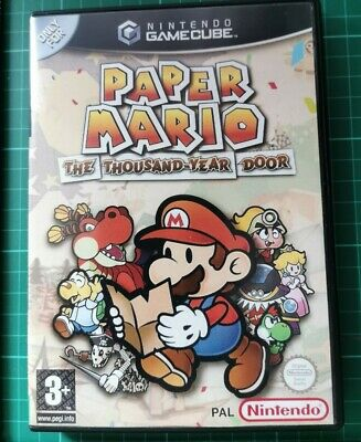 Nintendo GameCube replacement game case and Cover Paper Mario: The Thousand Year