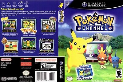 Nintendo GameCube replacement game case and Cover Pokemon Channel