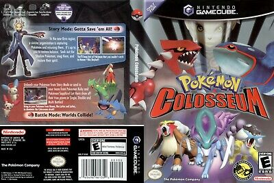 Nintendo GameCube replacement game case and Cover Pokemon Colosseum