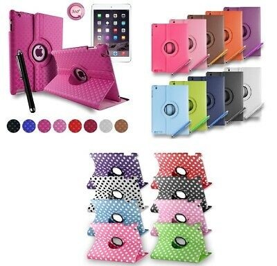 New Luxury Smart Stand Leather Magnetic 360 Flip Case Cover For Apple iPad 4 3 2