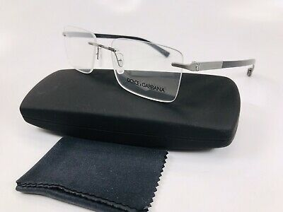 7a41ed4cb4 ✴New Dolce Gabbana DG1260 04 Black BASALTO COLLECTION Eyeglasses 53mm with  Case