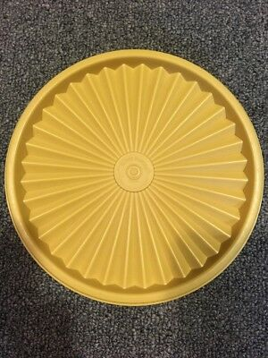 "VINTAGE TUPPERWARE #808 GOLD Servalier REPLACEMENT Lid 6 1/2"" ROUND Seal"