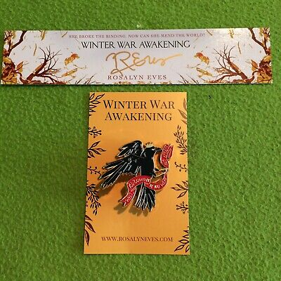 Crow Enamel Pin Rosalyn Eves YA Book Swag Signed Exclusive Owlcrate Fairyloot