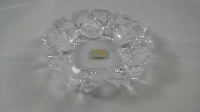 "Vintage Mikasa 5""x 1 1/2"" Crystal flower Candy dish/ Bowl Germany Free US Ship!"