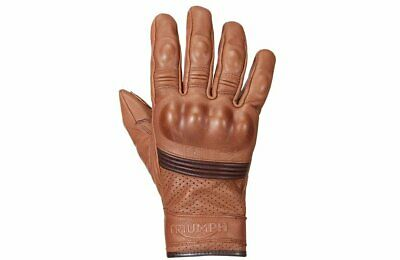 Genuine Triumph Restore Tan Short Brown Motorcycle Gloves Mgvs16503 All Sizes