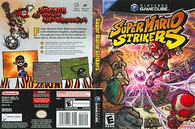 Nintendo GameCube replacement game case and Cover Super Mario Strikers