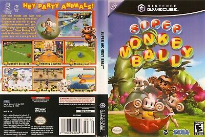 Nintendo GameCube replacement game case and Cover Super Monkey Ball