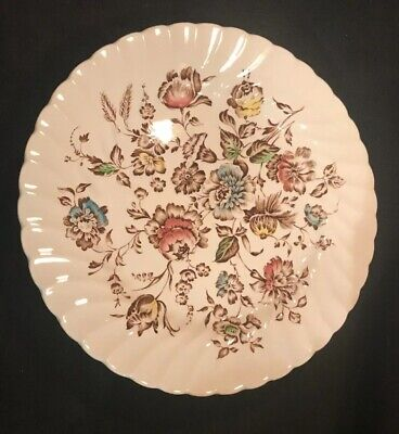 6 Johnson Brothers Staffordshire Bouquet Dinner Plates